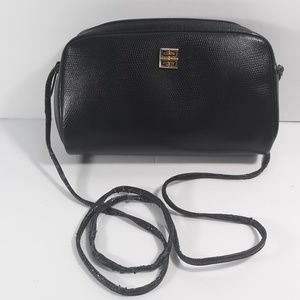 GIVENCHY Vintage Black Leather Crossbody Bag